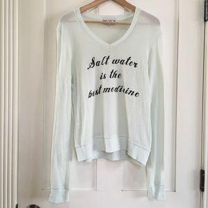 Wildfox Pullover Sweater Jumper Salt Water